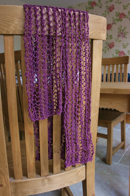 Purple lace scarf 2