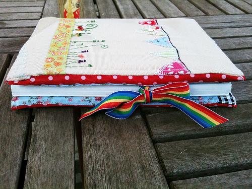 Garden notebook side fastening